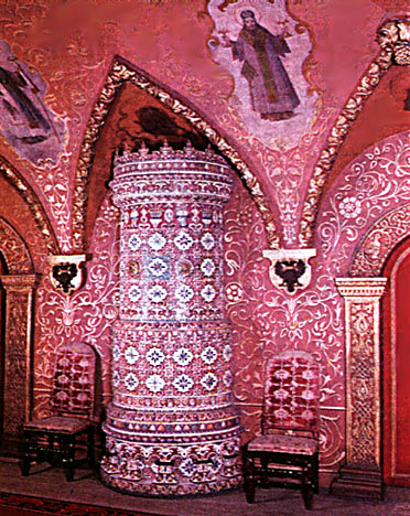 Kremlin Palace Inside Tile stove in the thro...